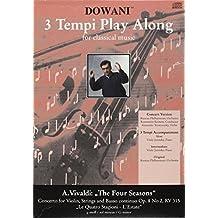 3 Tempi Play Along For Classical Music: Concerto for Violin, Strings and Basso Continuo Op. 8 No 2, Rv 315, Le Quatro Stagioni - L'estate