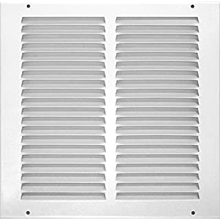 Accord ABRGWH1010 Return Grille with 1/2-Inch Fin Louvered, 10-Inch x 10-Inch(Duct Opening Measurements), White