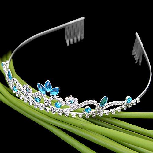 Diadema Tiara Azul Cristal Diamante de Imitación Accesorio para Cabello Nuevo