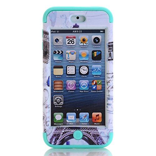 Apple iPod Touch 5/6 Hülle , AyiHuan iPod Touch 5/6 Case - Stoßfest / High Impact 3in1 gemischt Körperpanzer schützen Schutzhülle Apple iPod Touch 5 iPod Touch 6 + 1 Diamant-Staub-Stecker + 1X Stylus, M01