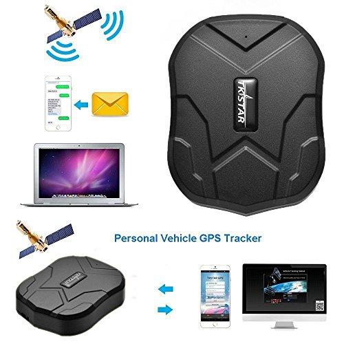 GPS Tracker , 3 Monate lang Standby GPS Ortung, Wasserdicht Echtzeit tracking GPS Locator Professional Anti-verloren GPS Alarm Car Tracker für Auto lkw Moto Gefrier Boot mit Freier APP