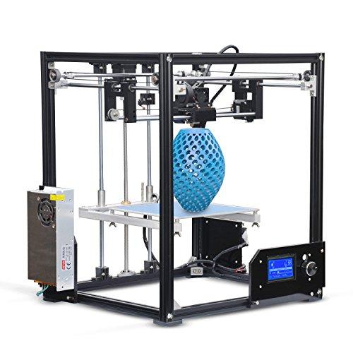 I3 kit stampante 3d diy telaio in alluminio grande dimensione di stampa adottare rame extruder display lcd with heatbed