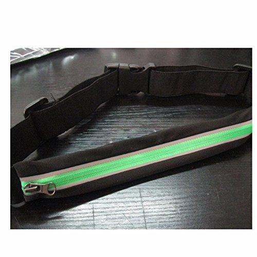 Sport Portatili, Cintura Stile Borsa, Correndo, A Cavallo, Pesante Senso, Sacca, Cellulare Borsa,Verde Fluorescente. verde fluorescente.