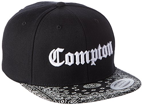 Mister Tee Herren Compton Bandana Cap Kappen, Blk/Wht, one size -