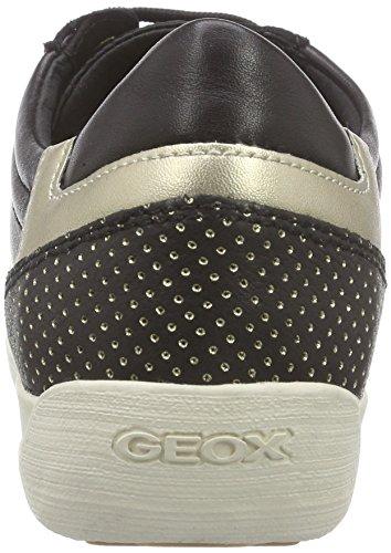 Geox D Myria E, Baskets Basses Femme Noir (C9997)