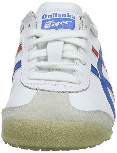 Asics Unisex-Erwachsene Mexico 66 Low-Top Weiß (WHITE/BLUE 0146)