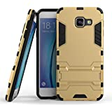 A3(2016) Coque,EVERGREENBUYING Ultra Slim léger 2 en 1 SM-A3100 Cases Housse Etui Premium Kickstand Bumper Hard Shell Back Coque Case Pour Samsung Galaxy A3 (2016) /A310 Or