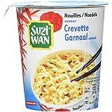 SUZIWAN Nouilles en Pot Saveur Crevette 62 g - Pack de 8