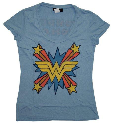 tv-store-wonder-woman-the-skipper-logo-scoop-neck-mystic-blau-junior-t-shirt-junior-medium