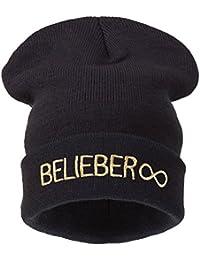 Beanie Hat Women Men Winter Warm Black Bad Hair Day Oversized