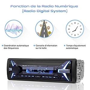 YOHOOLYO Autoradio Bluetooth Poste Radio Voiture Auto Radio Adapteur ISO Support RDS USB SD AUX MP3 Téléphone FM Stéréo Hi-FI de Onmi shop