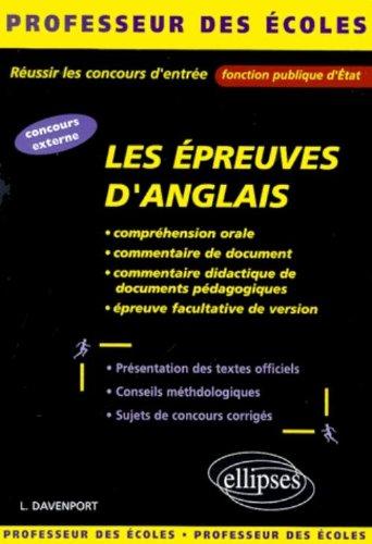Epreuves d'anglais : Réussir les concours d'entrée de la fonction publique d'état