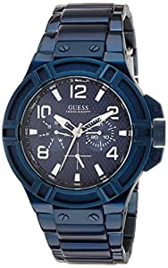 GUESS Blue Dial Analogue Watch for Men (W0218G4)