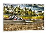 artboxONE Poster mit weißem Rahmen 30x20 cm Motorsport und Natur von Peter Elbert - Poster mit Kunststoffrahmen