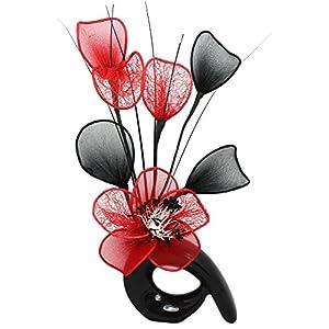Flourish 798611QH1_P56 Kunstblumenstrauß in Vase schwarz/red