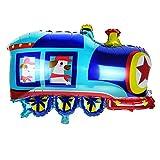 NWQEWDG Dessin animé Aluminium Ballon Voiture Scolaire Camion de Pompiers fête d'anniversaire décor (Train)