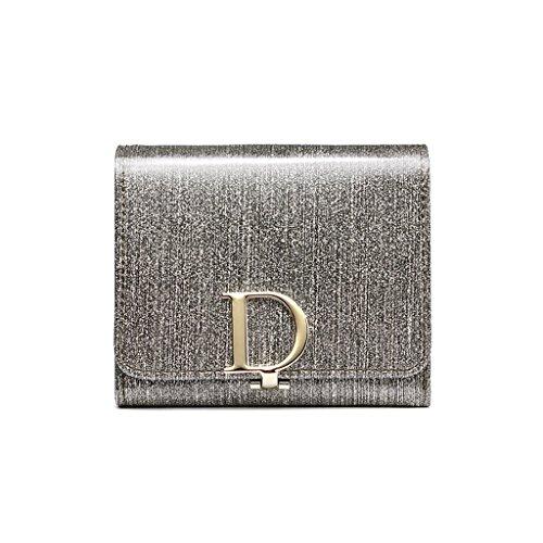 CLOTHES- Lady Wallet Europe e il portafoglio multifunzionale del sacchetto di mano del raccoglitore del cuoio lungo degli Stati Uniti ( Colore : Rosa ) Light gold