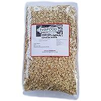 Copos de avena - 1 kg - Rica en nutrientes, vitaminas y minerales - 100% natural y libre de toxinas - Cereal para el desayuno - Fuente deliciosa de fibra