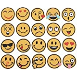 iDream Iron on Patches Emoji, Iron Embroidery Appliqué Decoration DIY Patch for Jeans Clothing etc (Pack of 20)