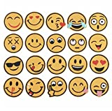 #8: iDream Iron on Patches Emoji, Iron Embroidery Appliqué Decoration DIY Patch for Jeans Clothing etc (Pack of 20)