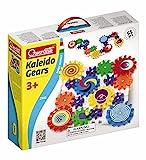 Quercetti 2341 Kaleido Gears - Juego de construcción creativa (encaje de 16 ruedas de engranaje, 6 pegatinas, 55 piezas), varios colores