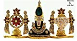 #6: ManeKo God Idol Tirupati Balaji Shanku Chakra Temple Showpiece with Crystal Studs for Car Dashboard