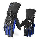 Guantes Moto Invierno para Hombre Mujer Impermeables Guantes de Moto Invierno con Proteccion Pantalla Tactil Dedo Completo para Invierno