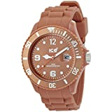 ICE-Watch - Montre Mixte - Quartz Analogique - Ice-Chocolate - Caramel - Big - Cadran Marron - Bracelet Silicone Marron - CT.CA.B.S.10