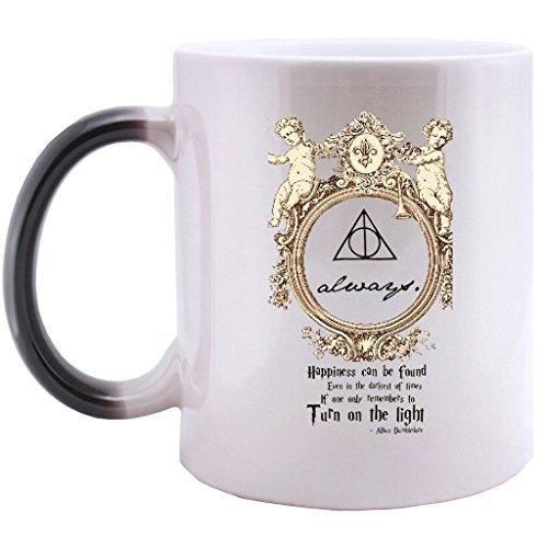 Supernatural 11 OZ Morphing Mug Heat Sensitive Color Changing 100% Ceramic Coffee/Tea Cup Morphing Mugs, Mugs