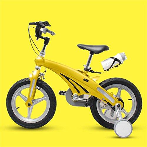 Les vélos d'enfants 12/16 Pouces bébé Mountain Bike Cadeau créatif Mode Mignon garçon Fille réglable Guidon Foldable (Couleur : Le Jaune, Taille : 16 inches)