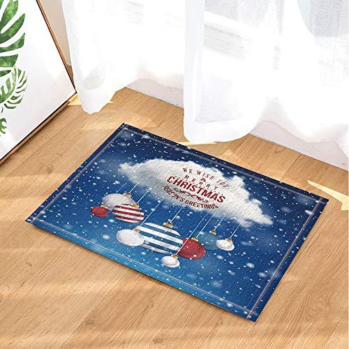 (cdhbh New Year Decor Magic Christmas Cloud mit farbigen Ball Bad Teppiche rutschhemmend Fußmatte Boden Eingänge Innen vorne Fußmatte Kinder Badematte 39,9x 59,9cm Badezimmer Zubehör)
