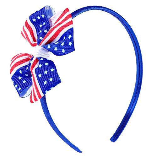 Nationalen Schätzen Amerikas (BESTOYARD Amerika Flagge Haarspange Chiledren Mädchen Bowknot Haarnadeln für Unabhängigkeitstag 4. Juli Nationalfeiertag Birthday Party Favors)