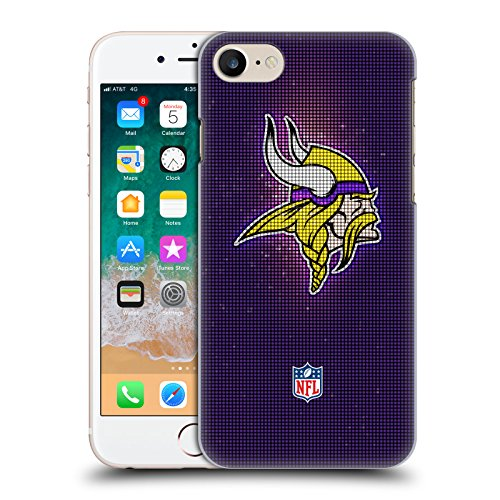 Head Case Designs Offizielle NFL LED 2017/18 Minnesota Vikings Harte Rueckseiten Huelle kompatibel mit iPhone 7 / iPhone 8 Viking 8