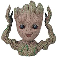 NRSON New Baby Groot Tree Man Guardians of The Galaxy Avengers Action Figures Stationery Organizer Pen Stand or…