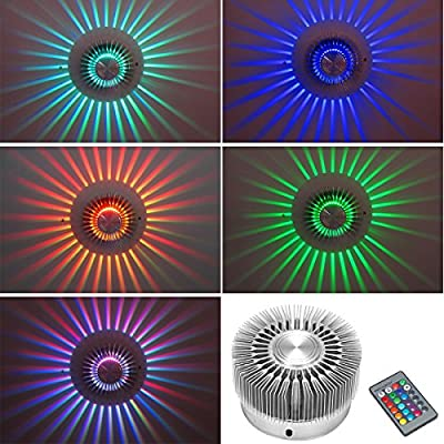 XCSOURCE 3W High Power LED Ceiling Light Wall Light Sconce RGB Lighting Home Decor Fixture + IR Remote Controller LD649