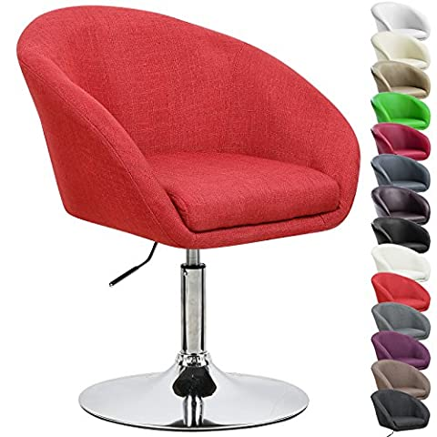 WOLTU BH61bd-1 1x Barstool Height Adjustable Bar Chair Linen Lounge Kitchen Chair with Armrests Bar Stool with Back