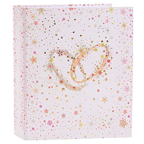 Goldbuch Hochzeitsordner, Crystal Romance, A4, 5 cm Rückenbreite, Kunstdruck mit Goldprägung und Relief, Weiß, 35345