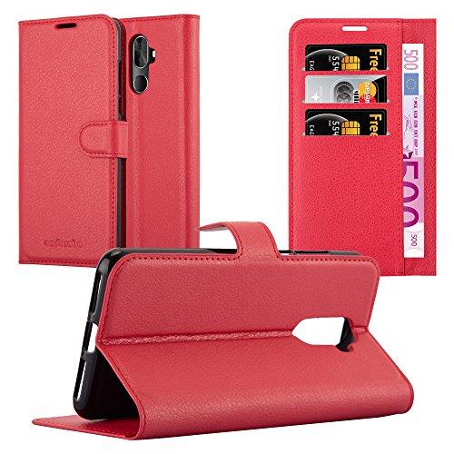 Preisvergleich Produktbild Cadorabo Hülle für Cubot X18 Plus - Hülle in Karmin ROT - Handyhülle mit Kartenfach und Standfunktion - Case Cover Schutzhülle Etui Tasche Book Klapp Style
