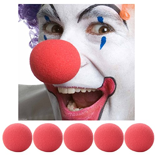 MEGA VALUE MULTIPACK 6 x Red Nose Day Soft Sponge Clown Noses Fancy Dress Comic Relief Circus Clown Party Accessory (Afro Circus Kostüm)