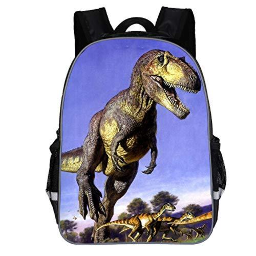 Dorical Schulrucksack für Kinder Kleinkinder Dinosaur Drucken Rucksack, Studenten Schultasche, Daypack Reise Backpack für Schüler Outdoor Freizeit, für Junge und Mädchen 3-10 Jahre(Lila)