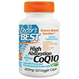 Doctor's Best High Absorption CoQ10 400mg, 60 Vegetarian Capsules (Fermented Japanese CoQ10) from Doctor's Best