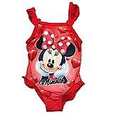 Minnie Costume da Bagno 12-18 - 24-36 Mesi Disney Estate 2018 (18 mesi, Rosso)