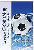 Karte Geburtstag Motiv Goal Fußball im Tornetz veredelt mit Heissfolie und Pergament - Liefermenge 6 Stück