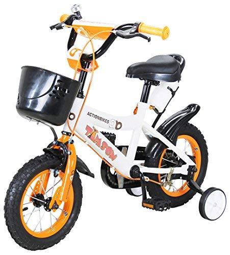 Actionbikes Kinderfahrrad Timson ab 3 Jahren 12 16 20 Zoll Gelb Kinder Mädchen Jungen Fahrrad (12` Zoll)