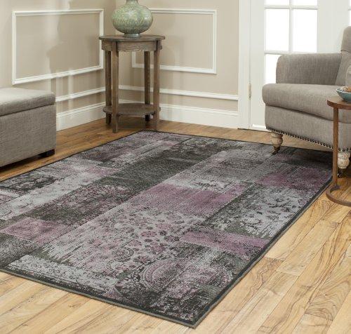 "Price comparison product image Safavieh ""Kingstown"" Area Rug, Charcoal/Multi-Colour, 160 x 228 x 1.27 cm"