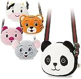 weiche modische Kindertasche Schultertasche Umhängertasche Zoo - Tier - Motive