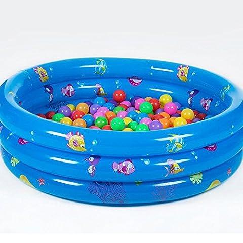 80cm PVC-Ozeankugellache aufblasbaren Pool Kind Planschbecken Verdickung Qualität Kinderspielzeug , blue