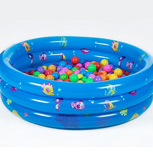 Preisvergleich Produktbild 80cm PVC-Ozeankugellache aufblasbaren Pool Kind Planschbecken Verdickung Qualität Kinderspielzeug , blue