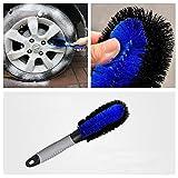 Auto Felgenbürste Waschbürste, AUKO Auto Felgen Reifen Optimale Felgenreinigung für Stahl- und Alufelgen - inklusive Zufriedenheitsgarantie (Blau)