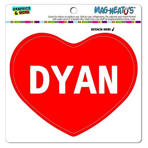 Mag-Neato 's-TM) Auto Kühlschrank Vinyl Magnet I love Herz Namen Buchse D Puppe, Dyan (Puppe Kühlschrank)